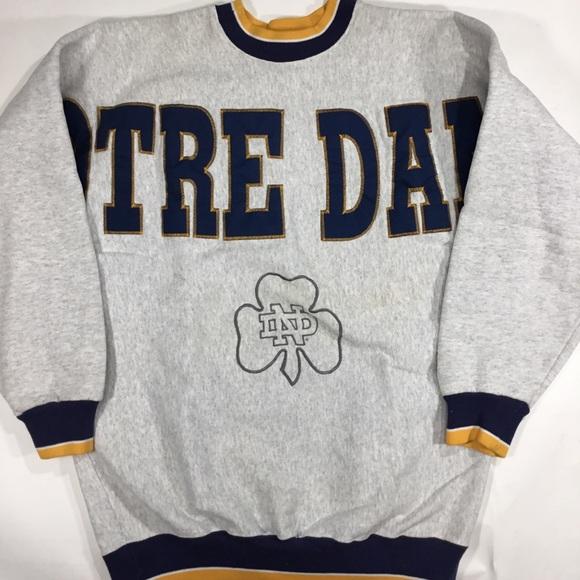 19dd06c8 Vintage Sweaters | 90s Notre Dame Spellout Crewneck | Poshmark